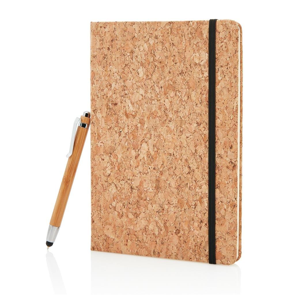 carnet en liege et son crayon bambou