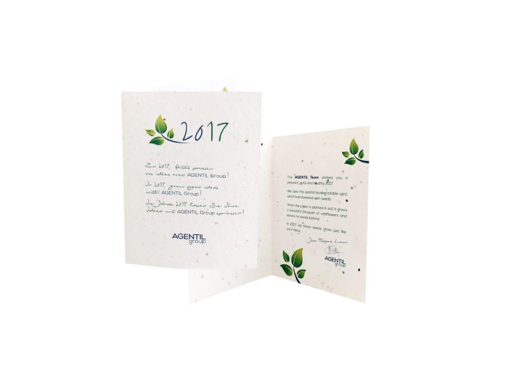 carte à planter biodégradable